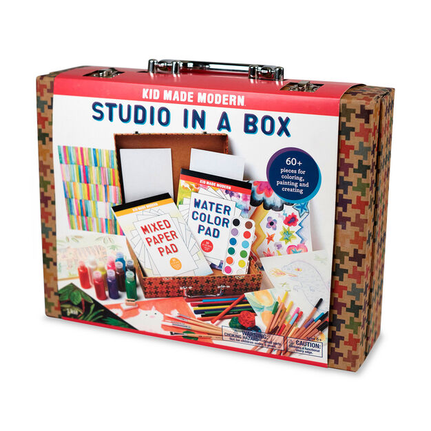 Kid Made Modern Studio in a Box Art Supply Kit in color