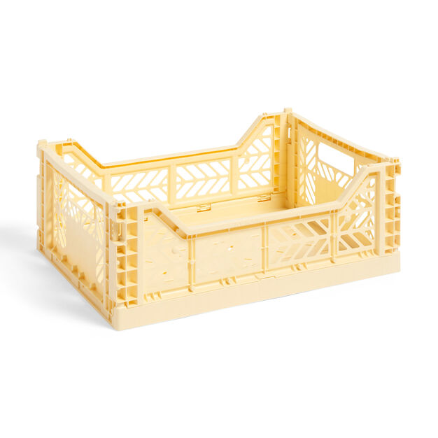 HAY Collapsible Storage Bins in color Light Yellow