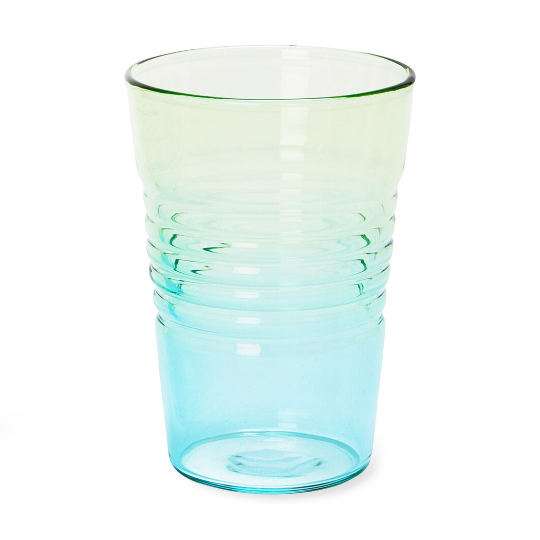 Ombré Juice Glasses in color Blue/Green