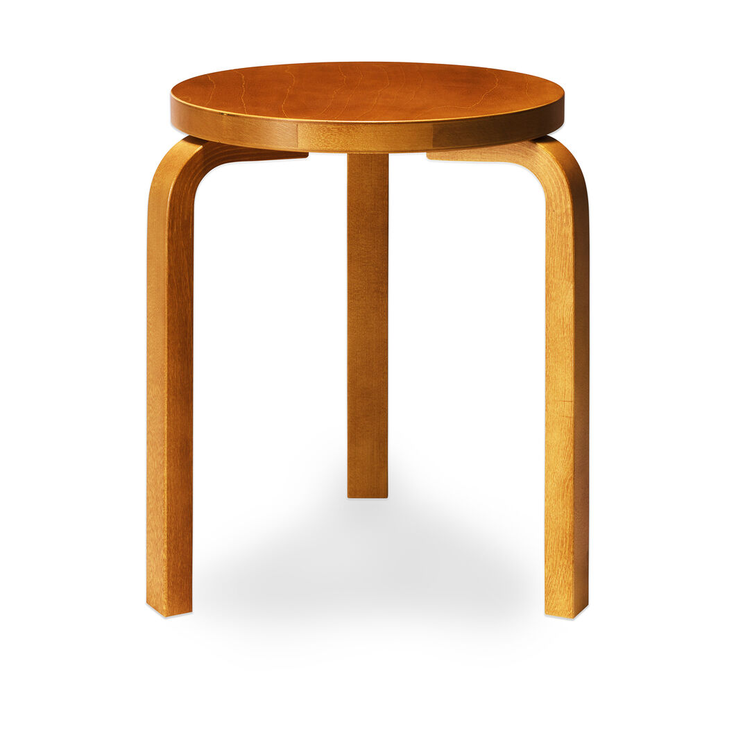Artek Aalto Stacking Stool 60 in color Honey