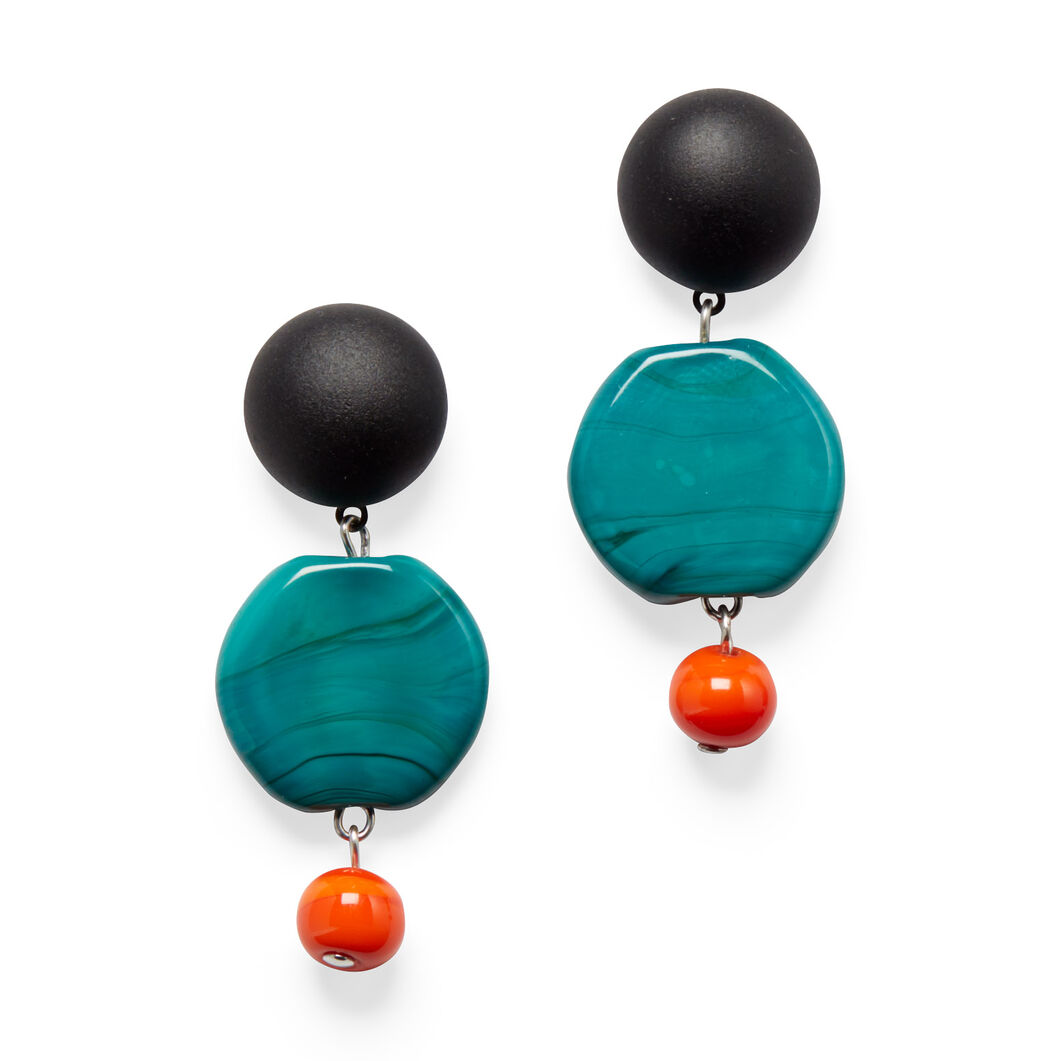 Murano Drop Earrings in color Turquoise