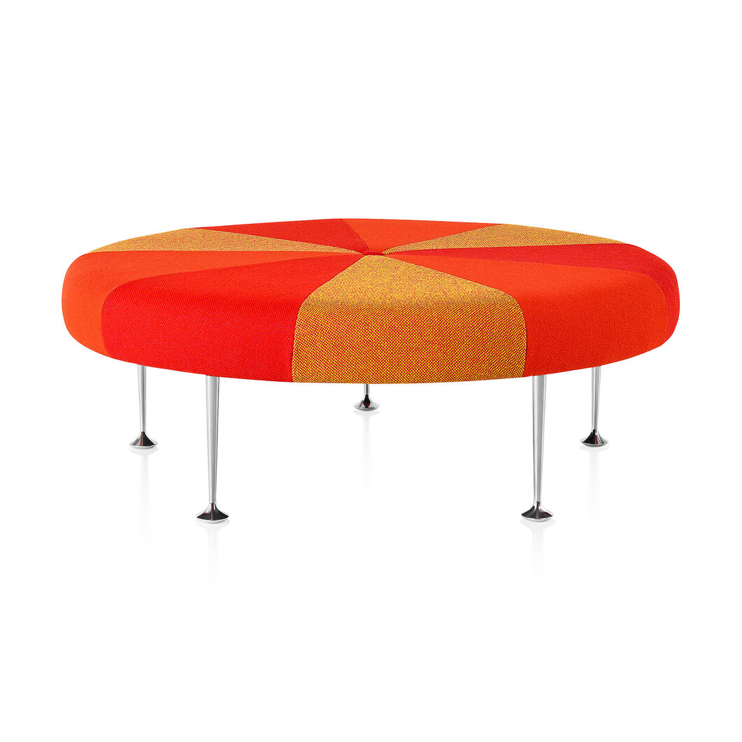 Girard Color Wheel Braniff Ottoman from Herman Miller© in color Orange