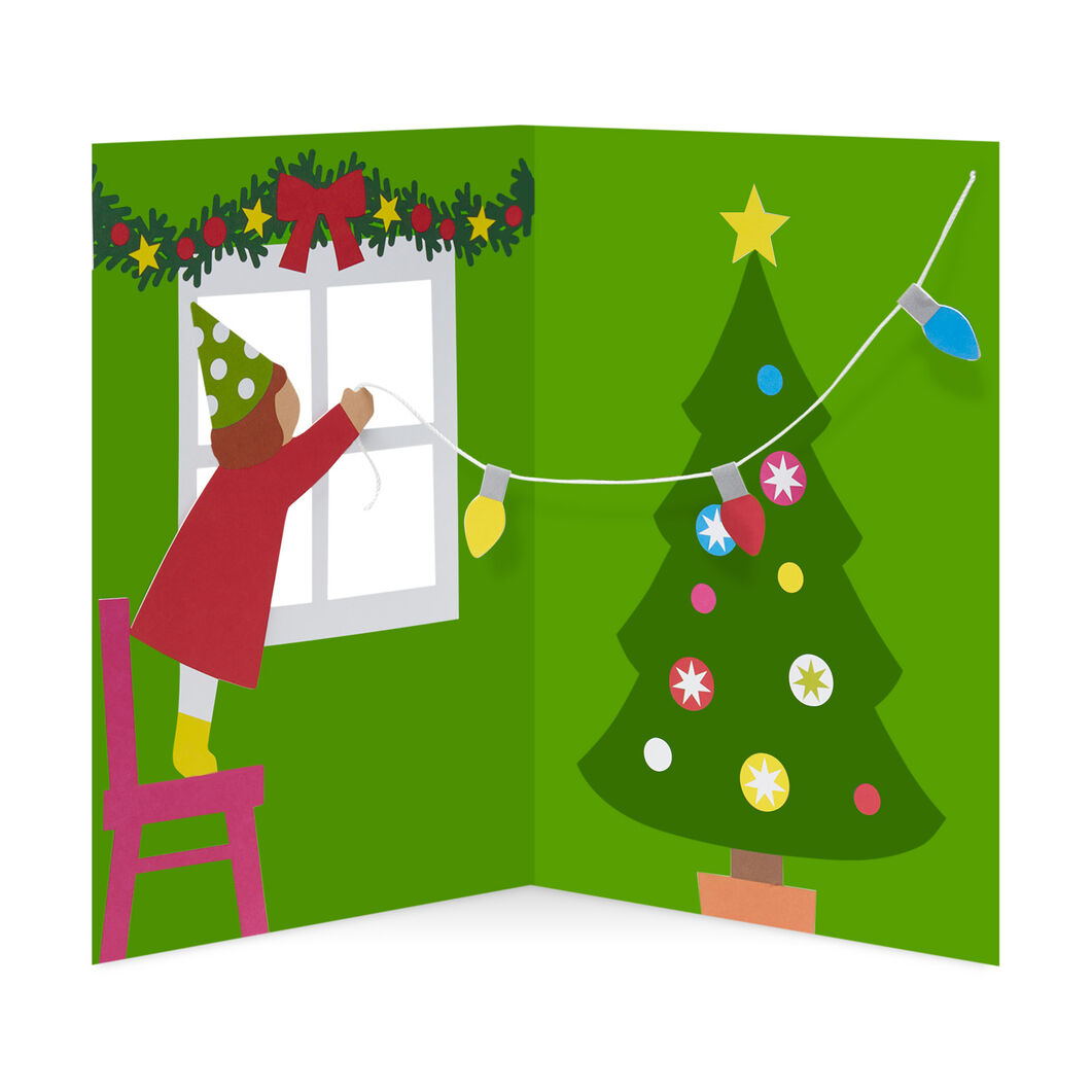 Trimming the Tree Holiday Cards (Box of 8) in color