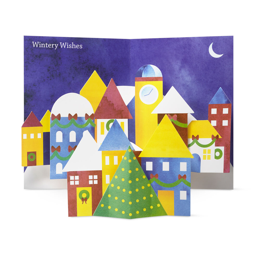 Winter Village Holiday Cards in color