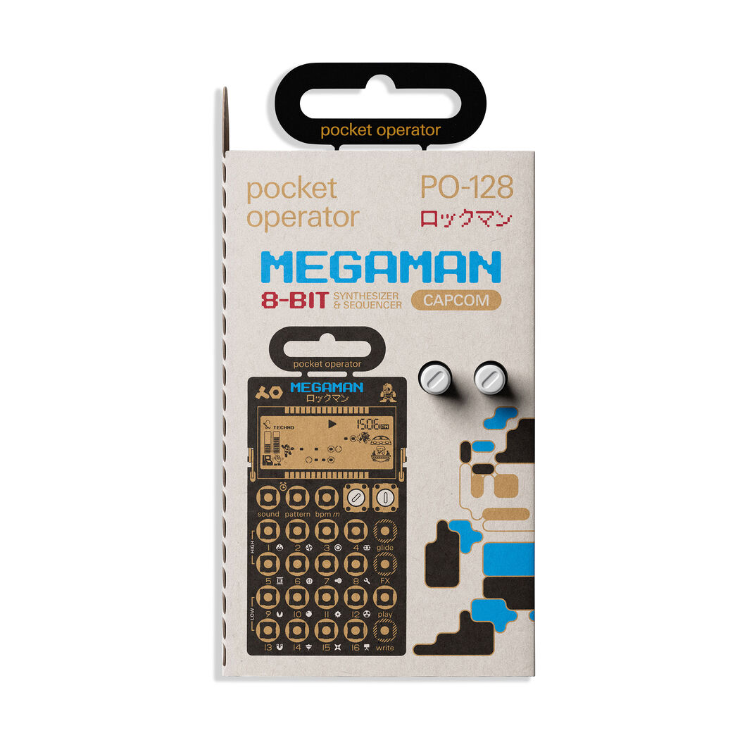 Teenage Engineering Pocket Operator™ Capcom® Sampler & Synthesizer in color Megaman