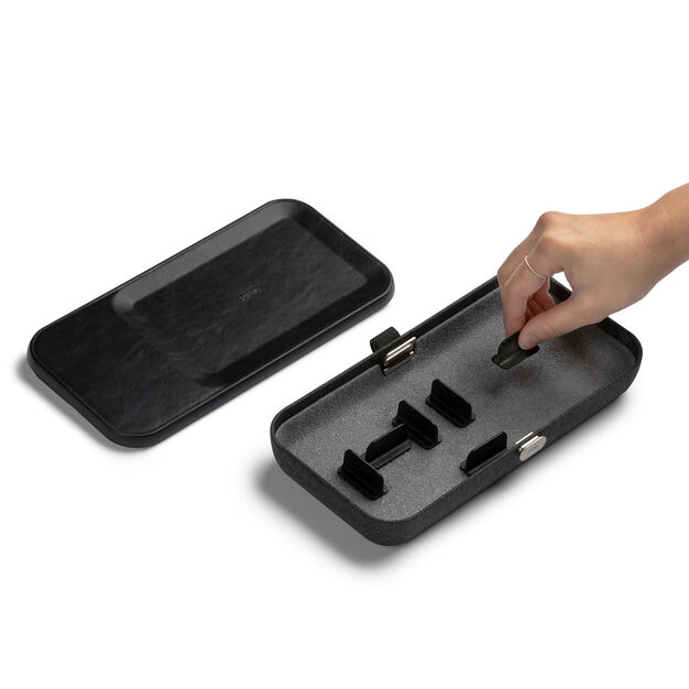 Portable Organizing Case with Wireless Charger in color