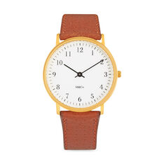 M & Co. Bodoni Brass Watch in color