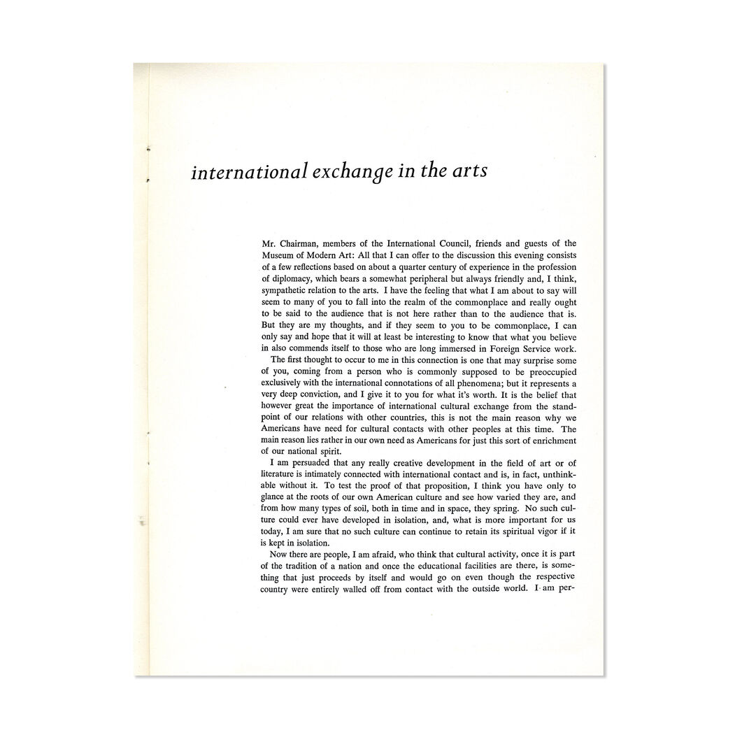 International Exchange in the Arts - Paperback in color