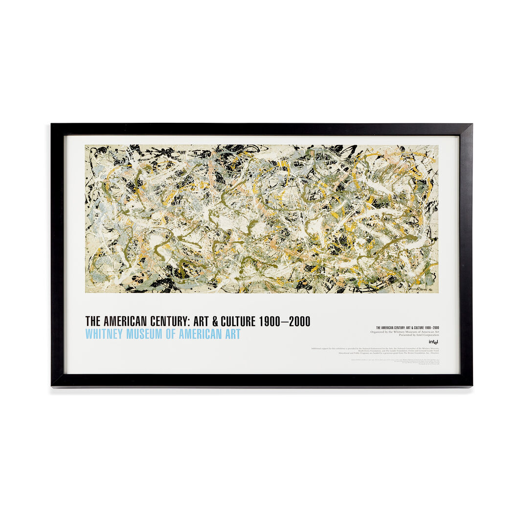 Jackson Pollock: Number 27 Framed Poster in color