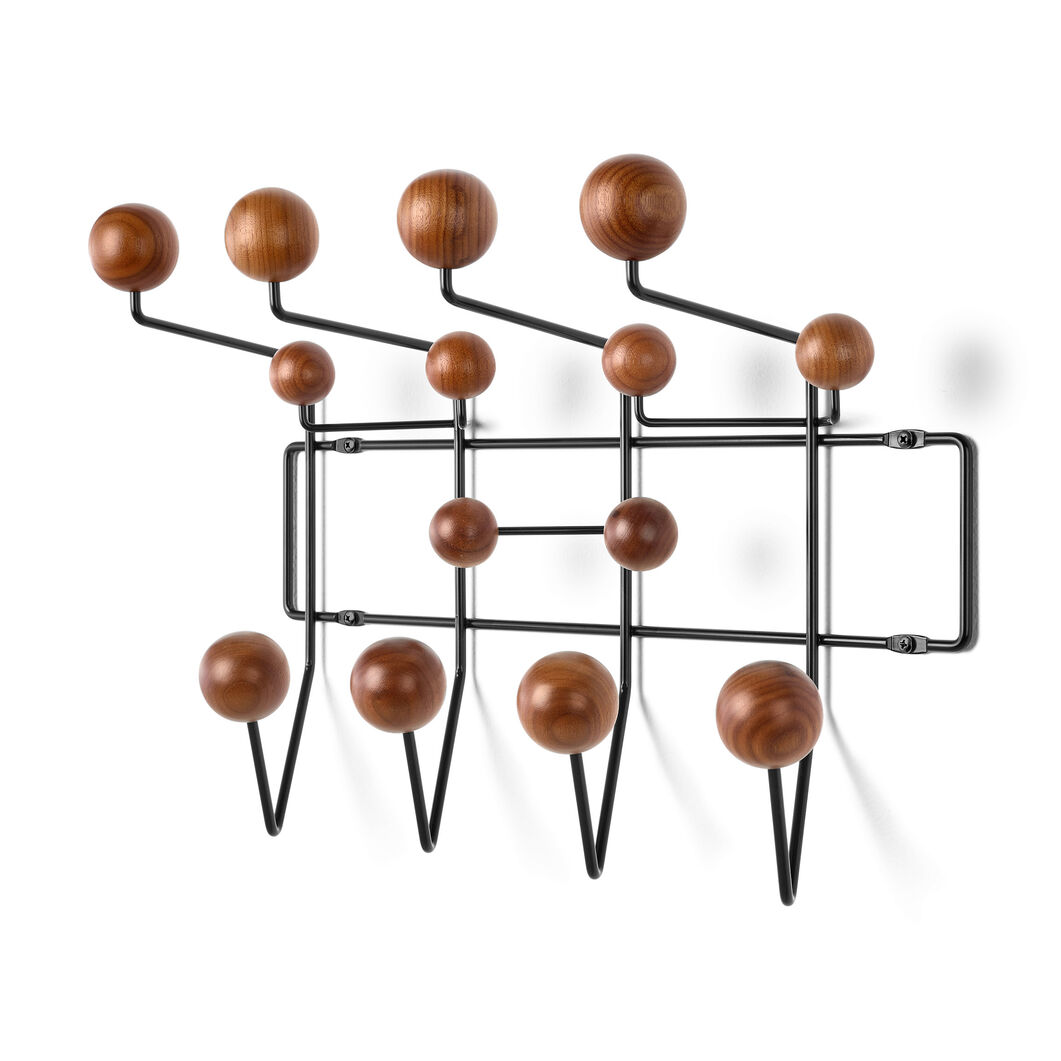 Eames® Hang-It-All Coat Rack in color Black/  Walnut