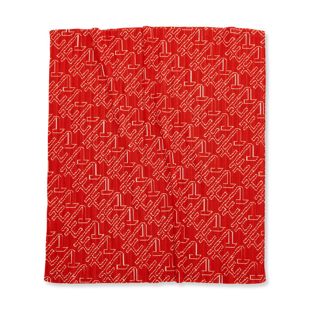 PLEATS PLEASE ISSEY MIYAKE Oh-Tube for MoMA Scarf in color Red