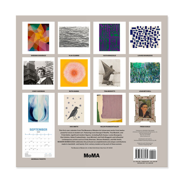 2020 MoMA Modern Women Wall Calendar in color