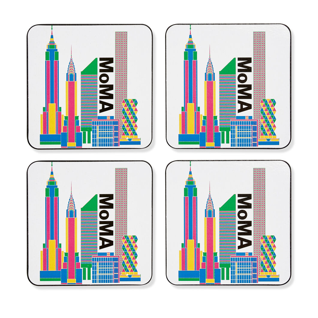MoMA Skyline Coasters - Set of 4 in color