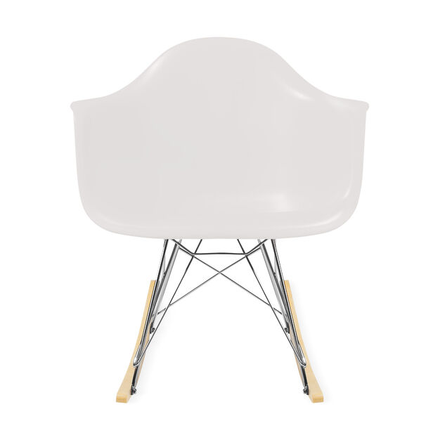 Eames® Molded Plastic Armchair with Rocking Base (RAR) in color White
