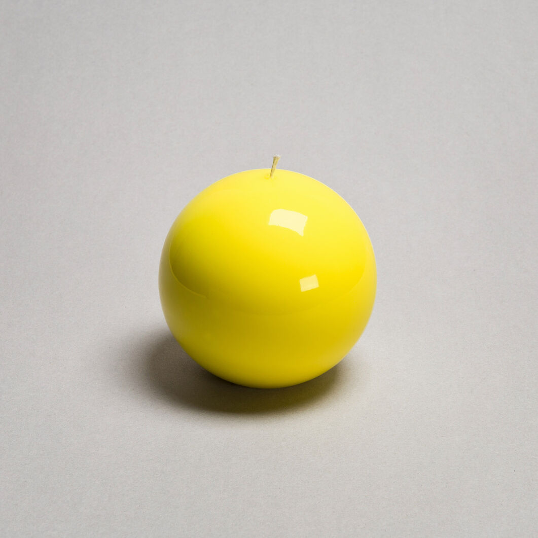 Meloria Ball Candle in color Yellow