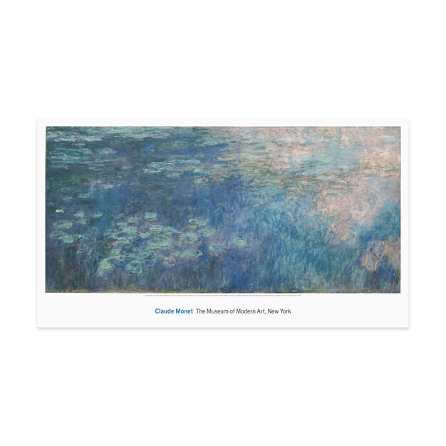 Monet: Water Lilies I Poster in color
