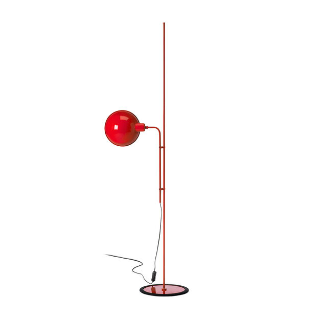 Funiculi Floor Lamp in color Red