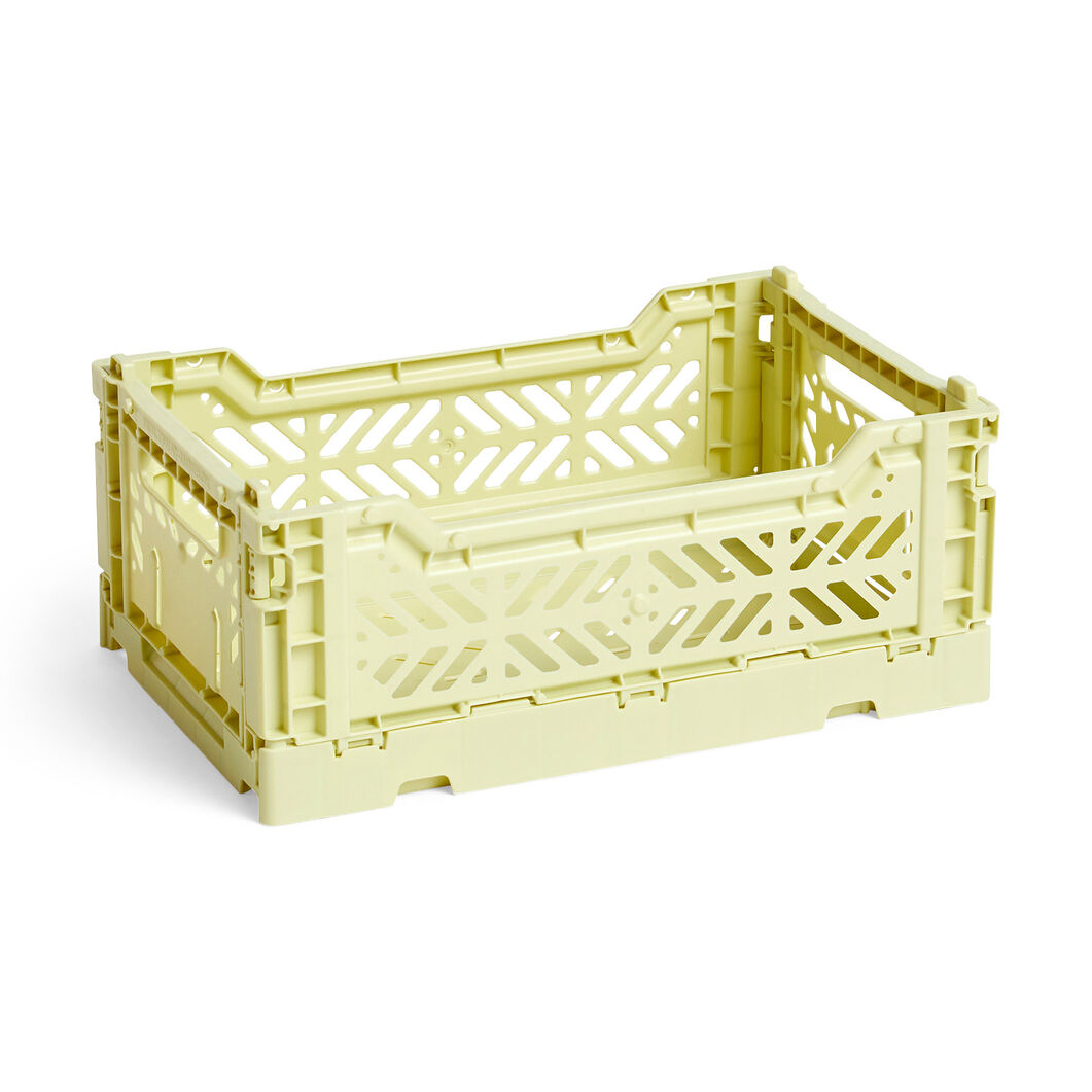 HAY Collapsible Storage Bins in color Lime