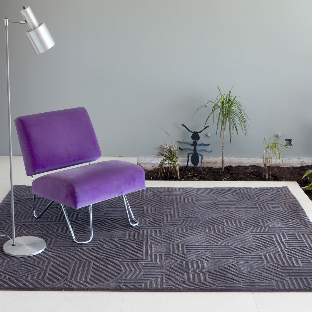 Nanimarquina African Pattern Rug Dark Gray in color