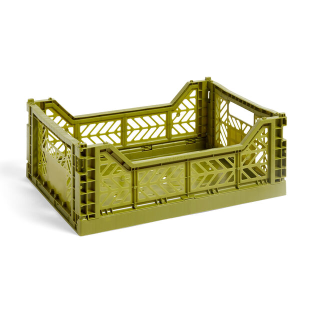 HAY Collapsible Storage Bins in color Olive