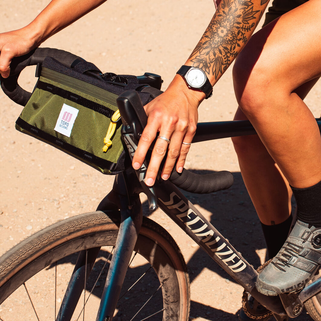Topo Waterproof Bike Bag in color Olive