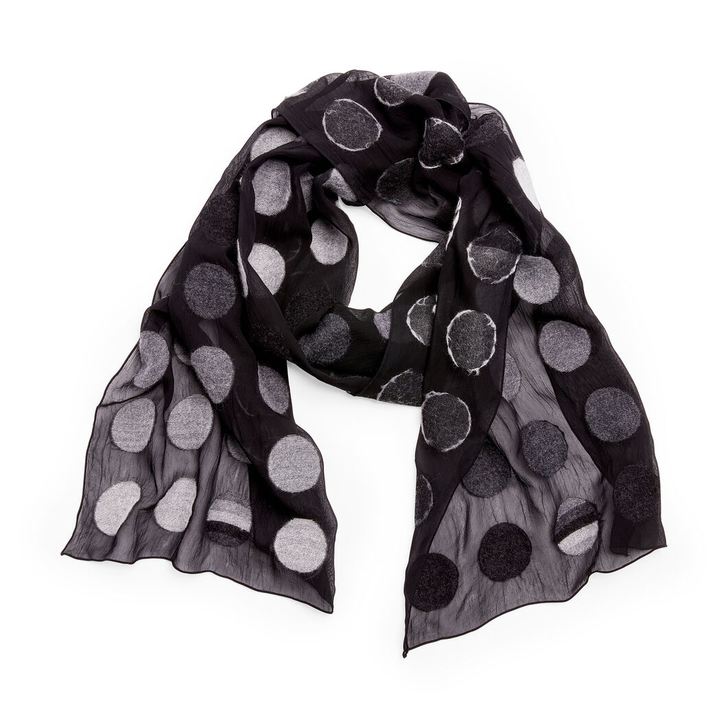 Neutral Dots Scarf in color