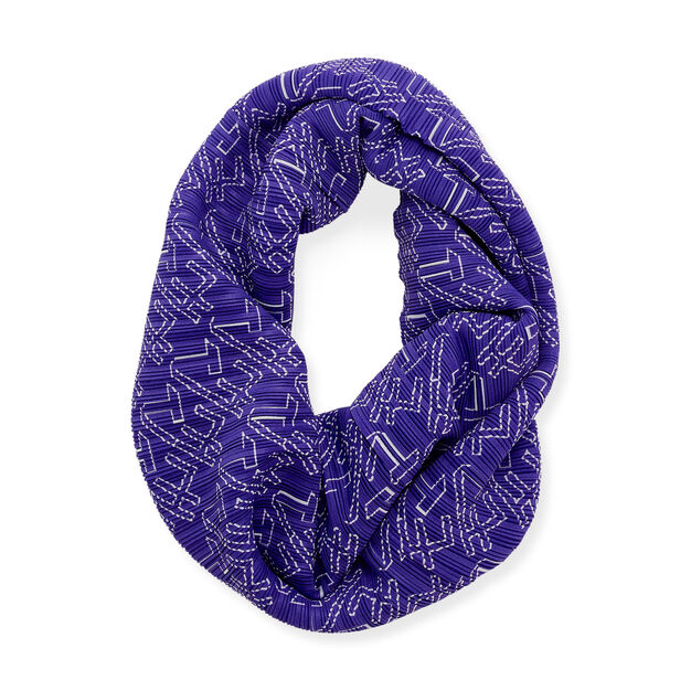 PLEATS PLEASE ISSEY MIYAKE Oh-Tube for MoMA Scarf in color Purple
