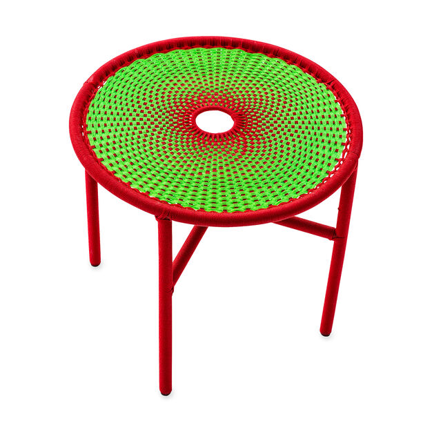 M'Afrique Banjooli Table in color Red/ Green